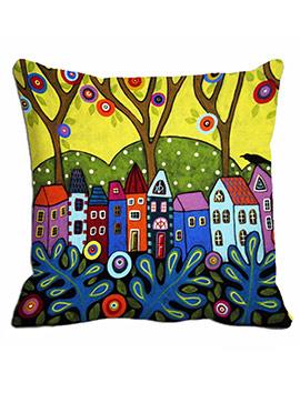 Multi Houses Cushion Cover