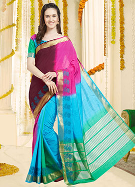 Multicolor Art Benarasi Silk Saree
