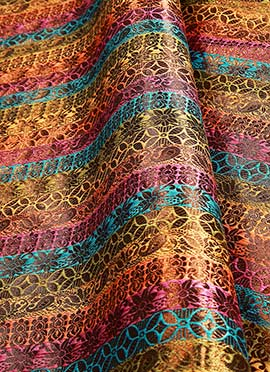Multicolor Art Silk Fabric