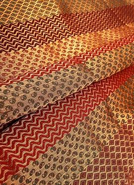 Multicolor Art Silk Fabric