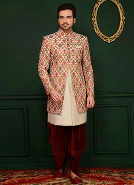 Multicolor Art Silk Indowestern Sherwani