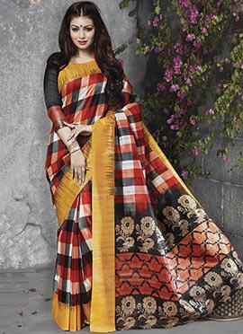 Ayesha Takia Multicolor Art Silk Saree