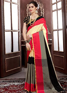 Multicolor Art Silk Saree