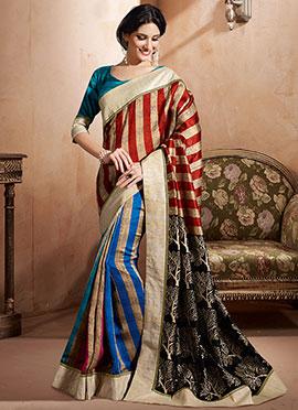 Multicolor Bhagalpuri Art Silk Saree