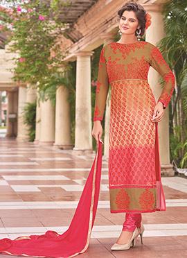 Multicolor Brasso Straight Suit