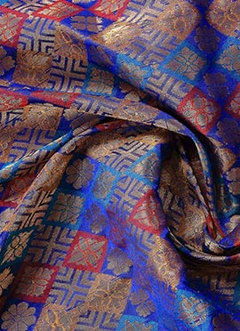 Multicolor Brocade Fabric