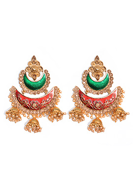Multicolor Chaand Bali Earrings