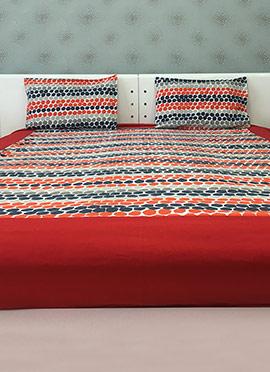 Multicolor Cotton Bed Sheet