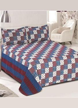 Multicolor Cotton Bed Sheet Set