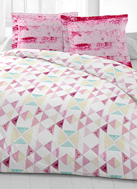 Multicolor Cotton King Size Bed Sheet