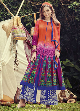 Multicolor Cotton Palazzo Suit
