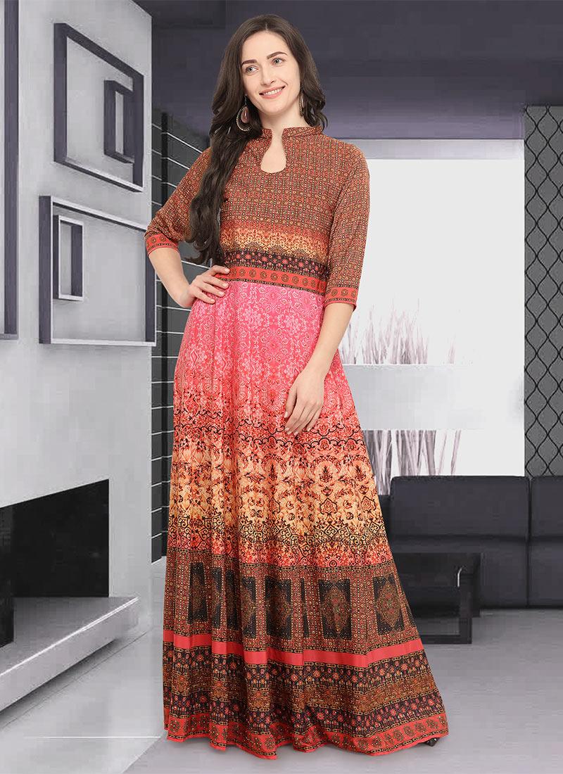 26968293dfd6 Buy Multicolor Crepe Dress