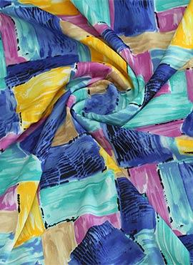 Multicolor Crepe Printed Fabric