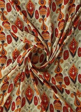 Multicolor Digital Printed Modal Silk Fabric
