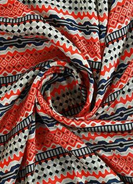 Multicolor Digital Printed Munga Silk Fabric