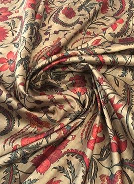 Multicolor Digital Printed Taffeta Silk Fabric