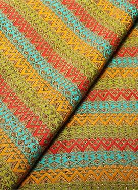 Multicolor Dupion Silk Fabric