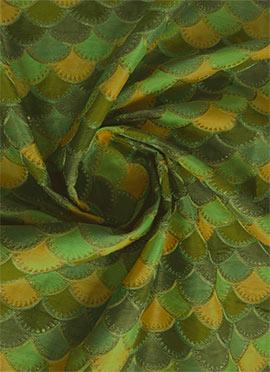 Multicolor Embroidered Art Silk Fabric