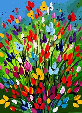 Multicolor Flower Canvas