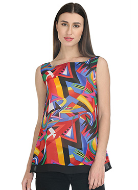 Multicolor Georgette Top