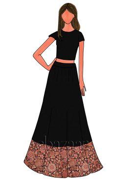 Multicolor Kalamkari Cotton Skirt Set