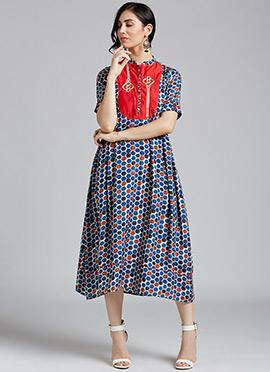 Multicolor Muslin Dress