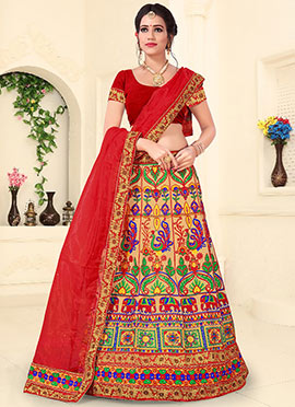 Multicolor Net Chaniya Choli