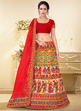 Multicolor Net Chaniya Choli