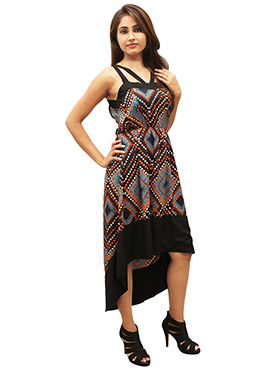 Multicolor Polyester Dress