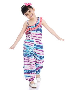 Multicolor Printed Kids Dress