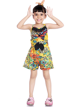 Multicolor Printed Kids Dress