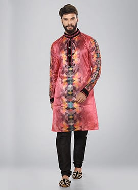 Multicolor Printed Kurta Pyjama Set