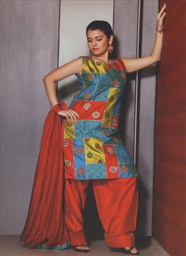 Multicolor Punjabi Suit