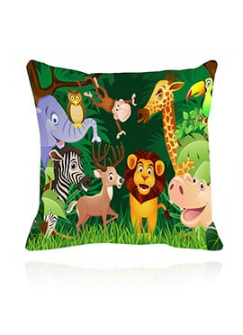 Multicolor Wildlife Cushion Cover