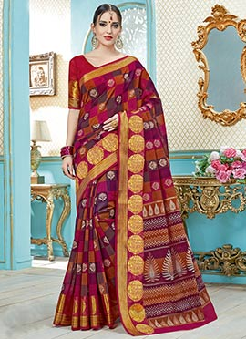 Multicolor Woven Saree