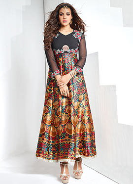 Multicolored Anarkali Dress