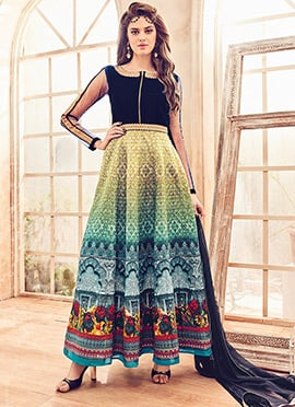 Multicolored Ankle Length Anarkali Suit