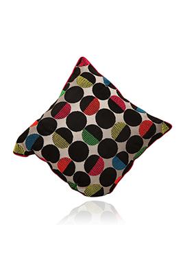 Multicolored Art Dupion Silk Cushion Cover