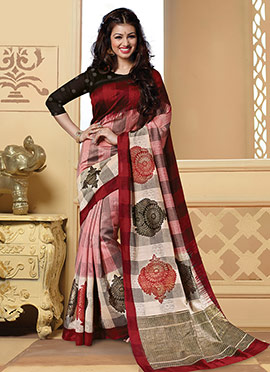 Multicolored Ayesha Takia Art Silk Printed Saree