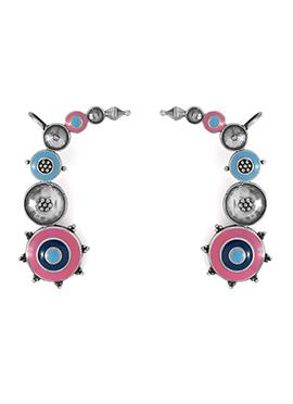Multicolored Beads Ear Cuffs
