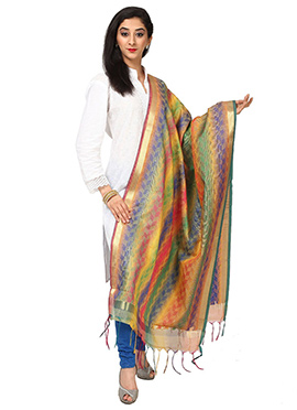 Multicolored Benarasi Art Silk Dupatta