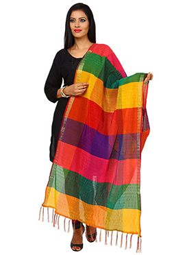 Multicolored Benarasi Cotton Dupatta
