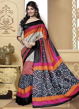 Multicolored Bhagalpuri Art Silk Saree
