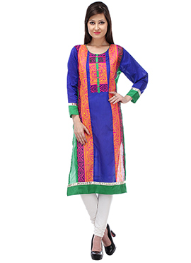 Multicolored Blended Cotton Kurti