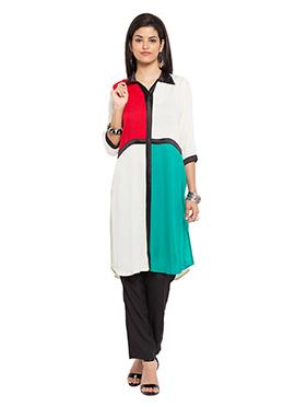 Multicolored Blended Cotton Kurti