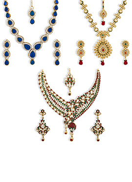 Multicolored Combo Of 3 Pieces Necklace Set