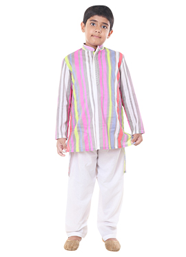 Multicolored Chiquitita Kids Kurta Pyjama