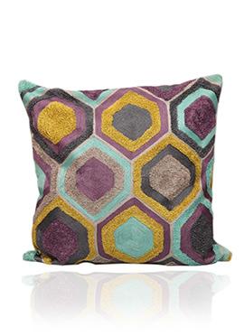Multicolored Cotton Cushion Cover