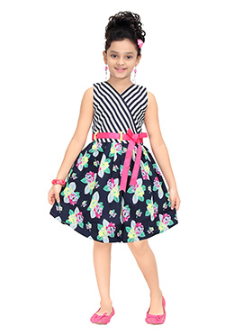 Multicolored Cotton Kids Dress