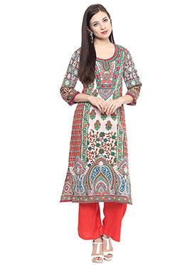 Multicolored Cotton Printed Kurti